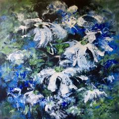 Schilderij Joke Vingerhoed 'Bloemen voor Sytske'